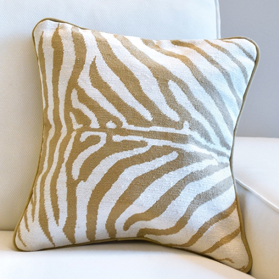 Animal Print Needlepoint Pillows : Zebra Print Needlepoint Pillow Smathers & Branson