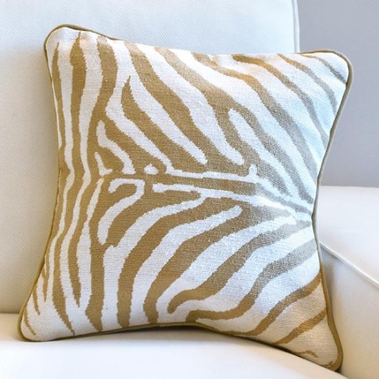 Animal Print Needlepoint Pillows : Zebra Print Needlepoint Pillow Smathers & Branson